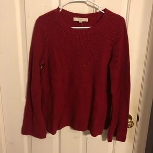 Read sweater with bell sleeves